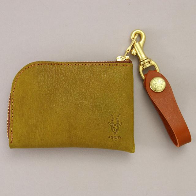 革財布 コインケース カードケース L字ファスナー 日本製 山羊革
