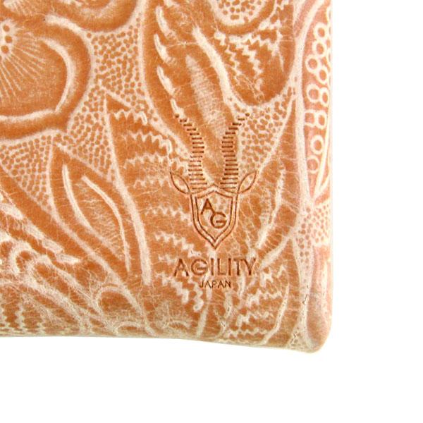 コインケース 小銭入れ カードケース アルジャン フラワーエンボス ボタニカル柄 日本製