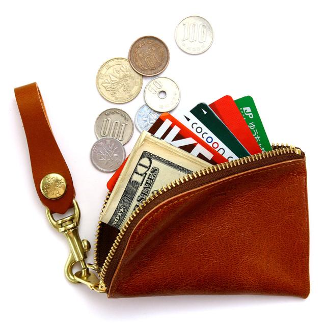 コインケース カードケース 小銭入れ コンパクト ウォレット 山羊革 カラフル