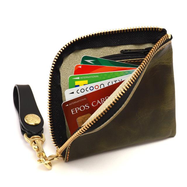 コインケース カードケース 二つ折り 小銭入れ 手作り