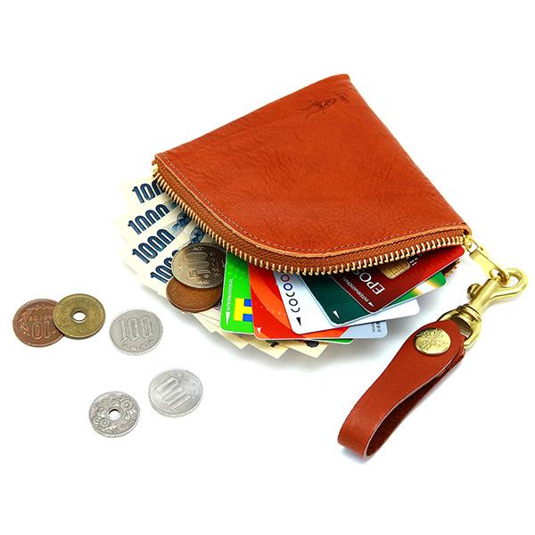 コインケース L字ファスナー 革 レザー コンパクト 財布