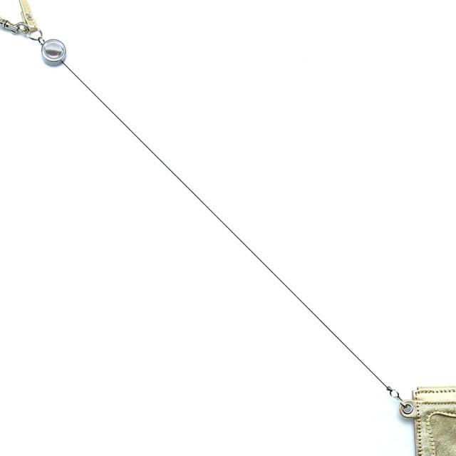 パスケース リール付き ゴールド シルバー 箔 メンズ レディース 本革 定期入れ