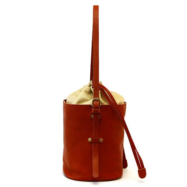 ショルダーバッグ バケツ型 牛革 レザー 日本製