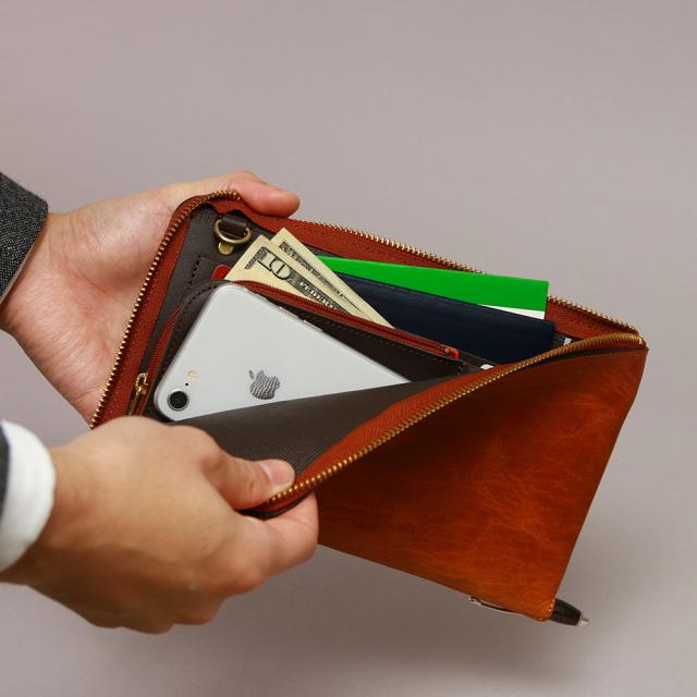 トラベルウォレット 長財布 お財布ポシェット パスポートケース 本革