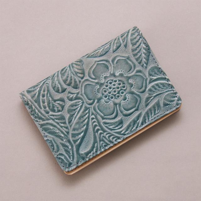 カードケース 名刺入れ 本革 日本製 花柄 ボタニカル柄