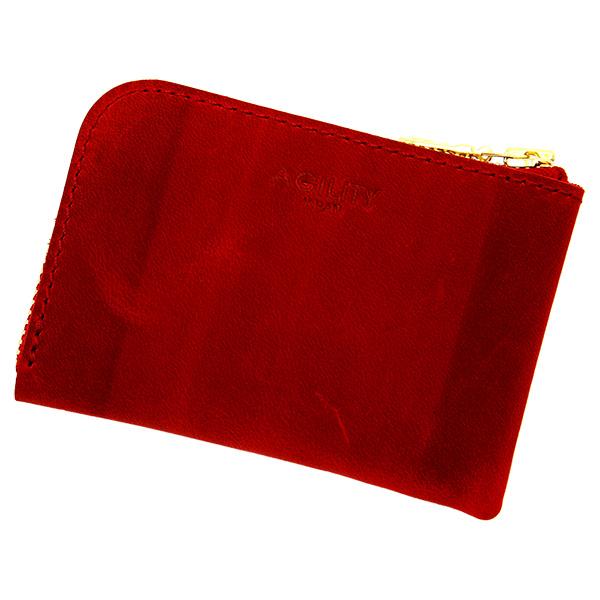 財布 極小財布 コインケース 小銭入れ ミニ財布 コンパクト レッド