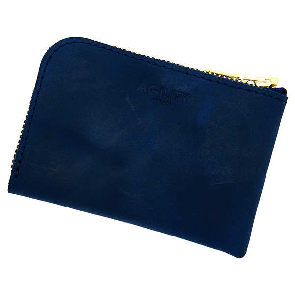 財布 極小財布 コインケース 小銭入れ ミニ財布 コンパクト ネイビー