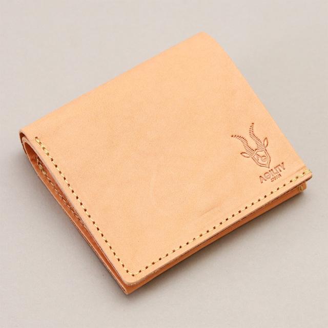 札入れ付き小銭入れ レザー 本革 折財布 日本製