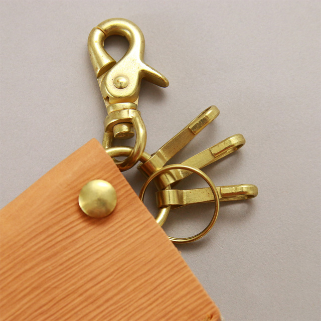 キーケース 刀 鞘 日本刀 キーリング リモコンキー 牛革 レザー 日本製