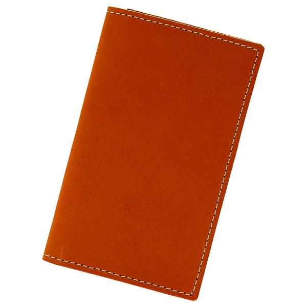 カードケース 本革 レザー 二つ折り 薄型 薄い 縦 スリム カード入れ キャメル