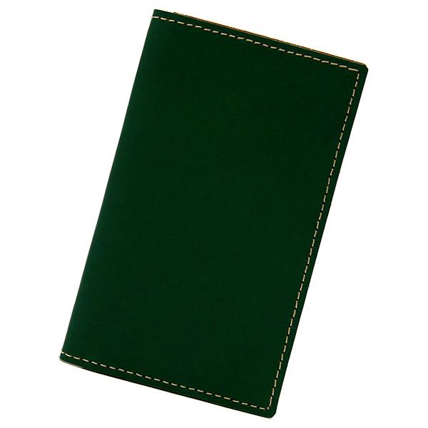 カードケース 本革 レザー 二つ折り 薄型 薄い 縦 スリム カード入れ グリーン