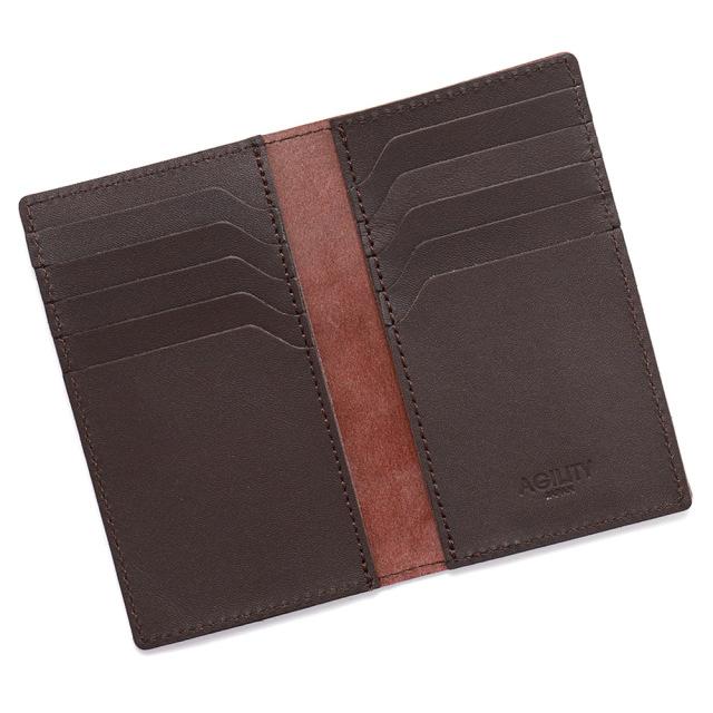 カードケース 本革 レザー 二つ折り 薄型 薄い 縦 スリム カード入れ