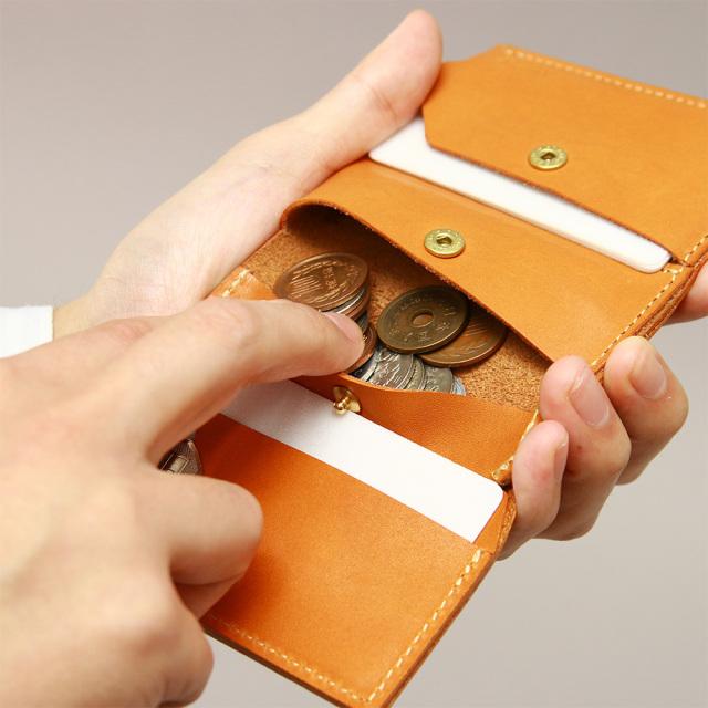 折財布 ミニ財布 小さい財布 コンパクト 極小財布 革 本革 キーポケット