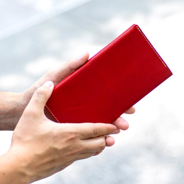 長財布 折財布 カード お札 シンプル 薄型 14枚 内ポケット 本革 レザー