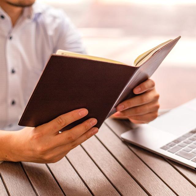 ブックカバー 手帳カバー B6 シンプル おしゃれ しおり付き 革 レザー