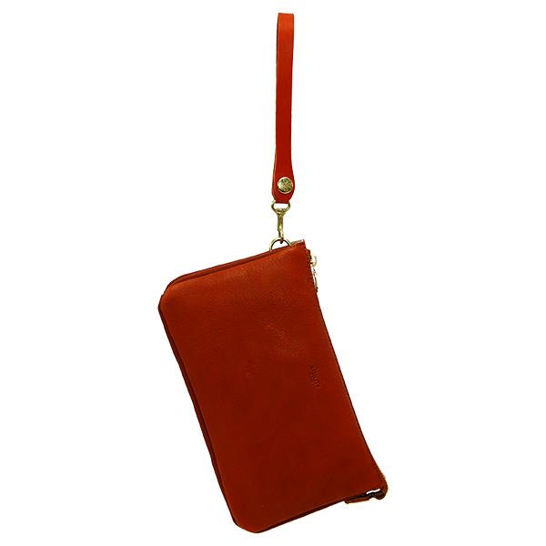 クラッチバッグ メンズ レザー 革 持ち手 バッグインポーチ セカンドバッグ ブラウン
