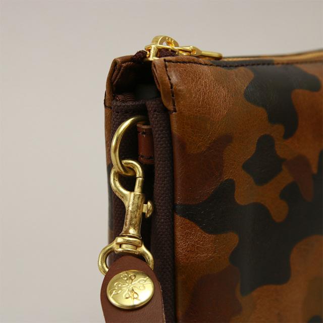 クラッチバッグ セカンドバッグ バッグインバッグ 牛革 レザー 本革 日本製 迷彩 カモフラージュ