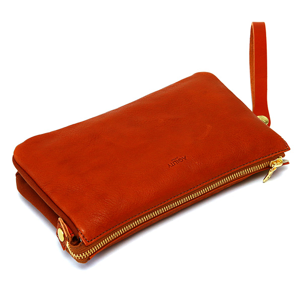 クラッチバッグ メンズ レザー 革 持ち手 バッグインポーチ セカンドバッグ