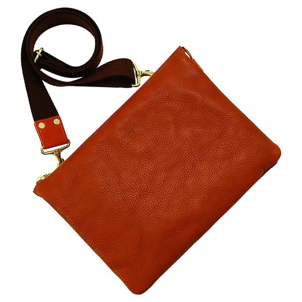 クラッチバッグ セカンドバッグ 革 レザー ボディバッグ ipad タブレッド 10インチ ブラウン