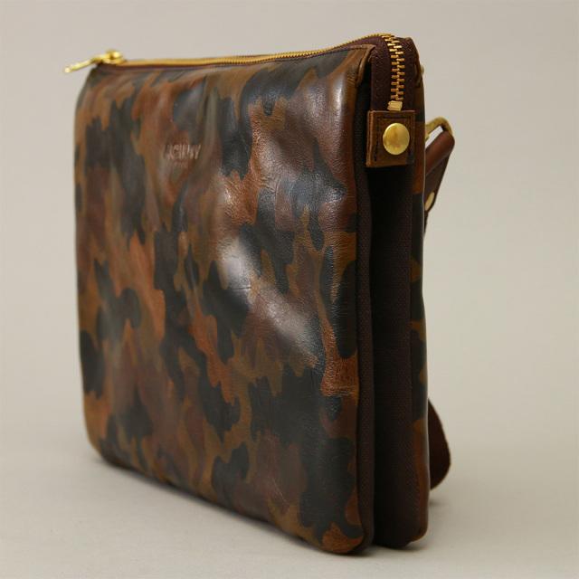 クラッチバッグ セカンドバッグ iPad タブレット 10インチ 牛革 レザー 本革 日本製 迷彩 カモフラージュ