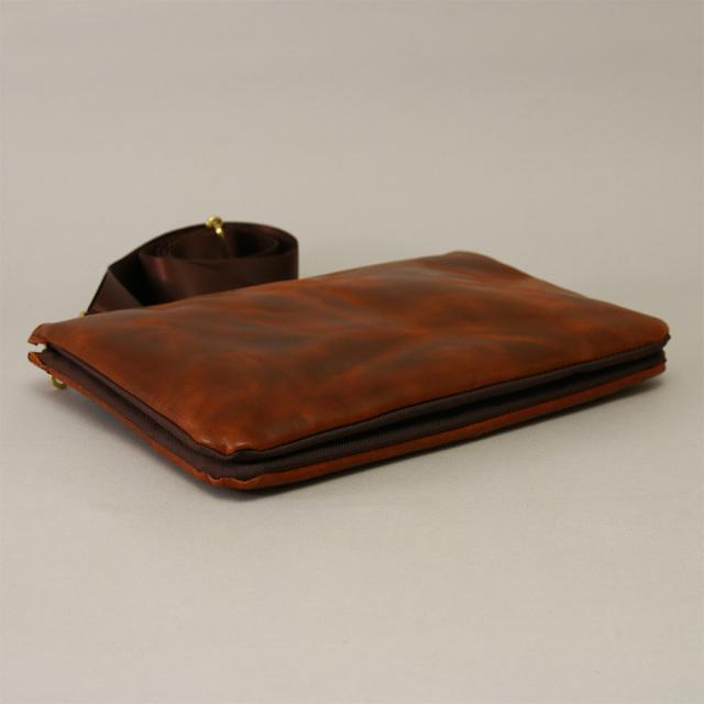 クラッチバッグ ipad 2way 本革 レザー 薄型 メンズ ショルダーバッグ