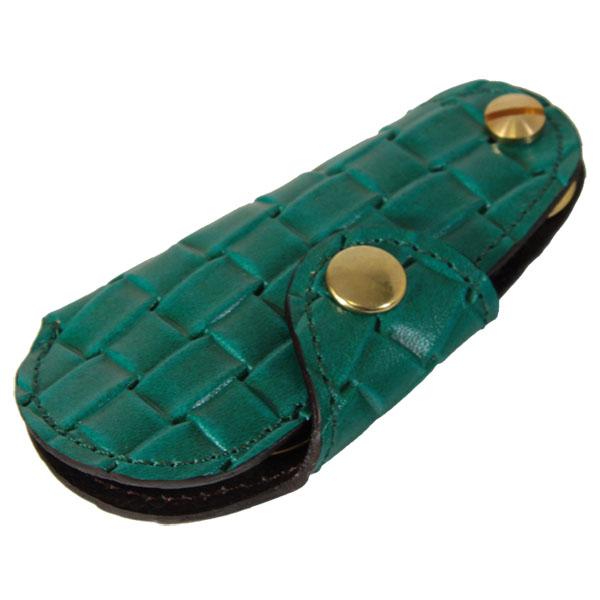 日本製 キーホルダー シューホーン 靴べら 牛革 真鍮
