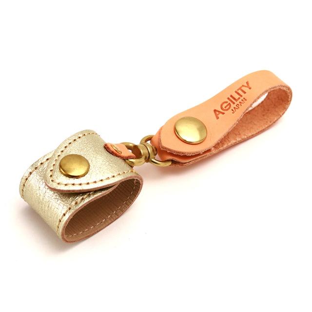 グローブホルダー 本革 革小物 レザー 金 銀 ゴールド シルバー