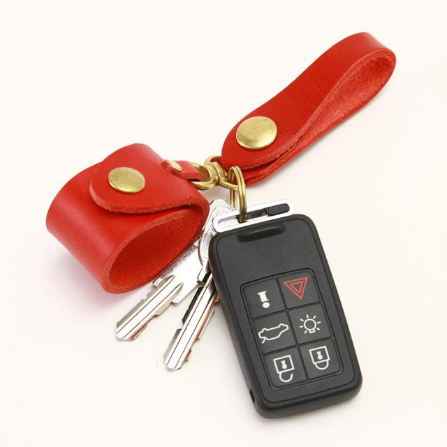キーホルダー エコバッグ 携帯 忘れない グローブホルダー ベルトループ 本革