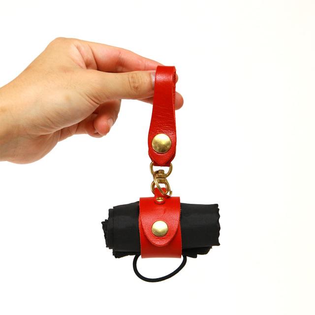 マイバッグホルダー エコバッグ レザー 革小物 キーホルダー