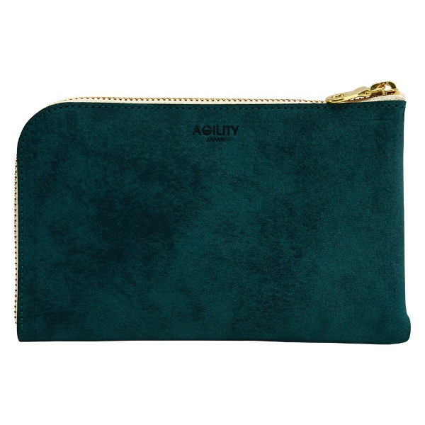 革 レザー 日本製 ウォレット スマホ 財布 ブルー