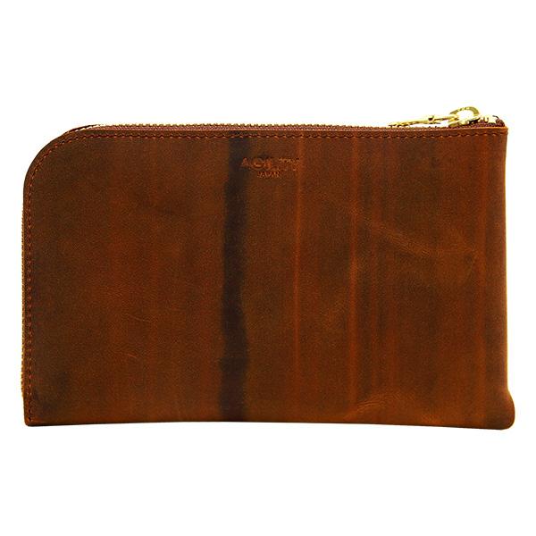 財布 L字ファスナー スマートフォン パスポートケース キャメル