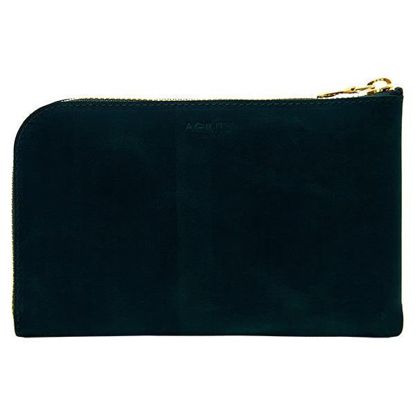 財布 L字ファスナー スマートフォン パスポートケース グリーン