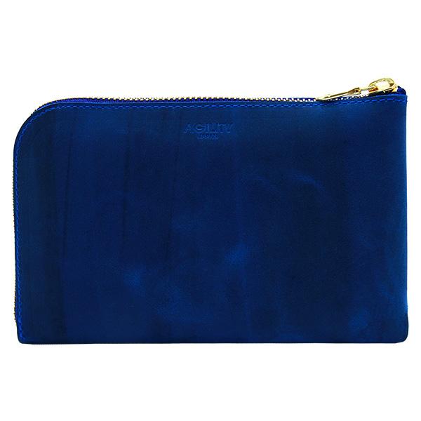 財布 L字ファスナー スマートフォン パスポートケース ブルー