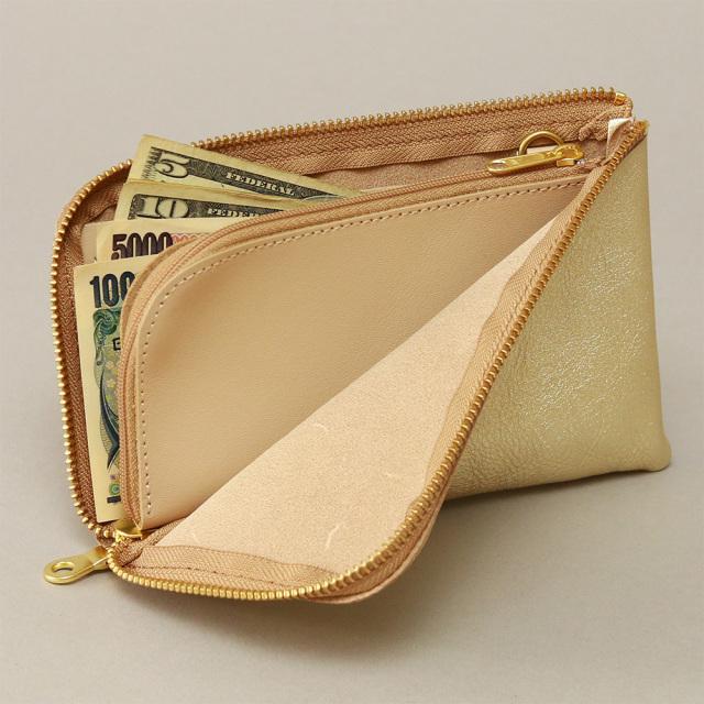 財布 ウォレット L字ファスナー パスポート 金 銀 ゴールド シルバー レディース
