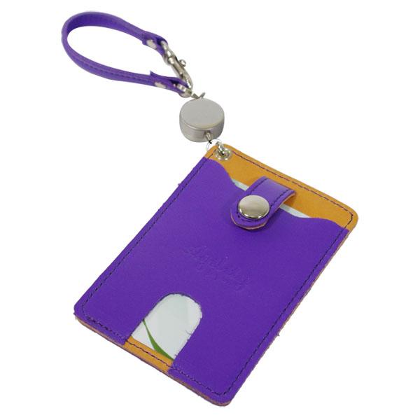 日本製 パスケース IC定期券 Suica ペンギン リール付き