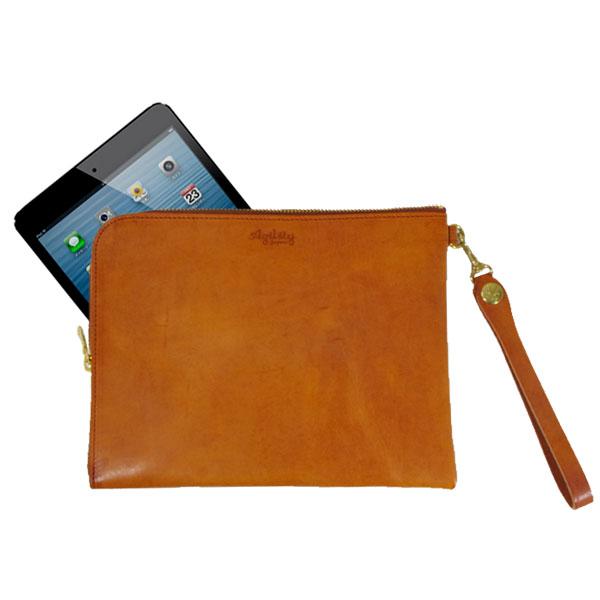 日本製 iPad mini 7インチタブレット クラッチバッグ レザー バッグインバッグ