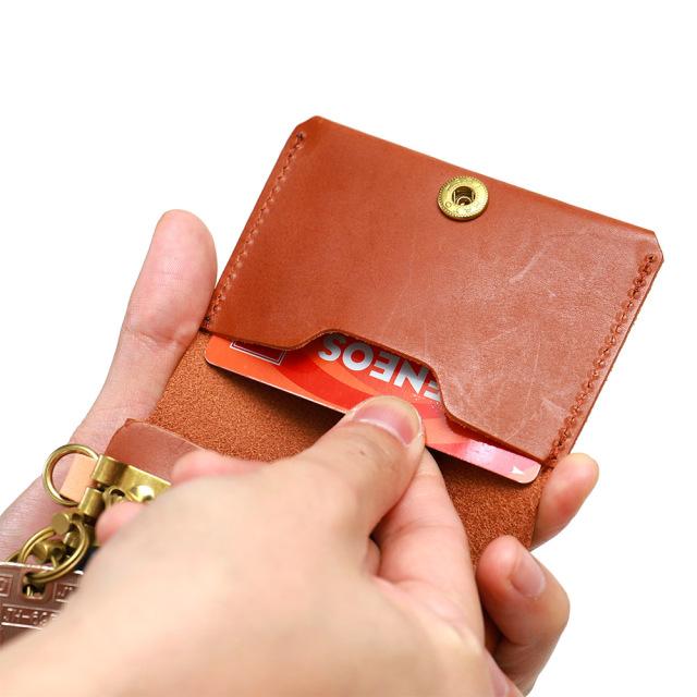 一体型 キーケース カードキー カードが入る カードも入る 三つ折り 本革 レザー