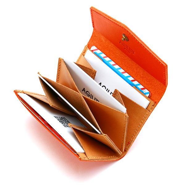 カードケース 名刺入れ ジャバラ 蛇腹 おしゃれ 革 レザー 薄型 フラップ