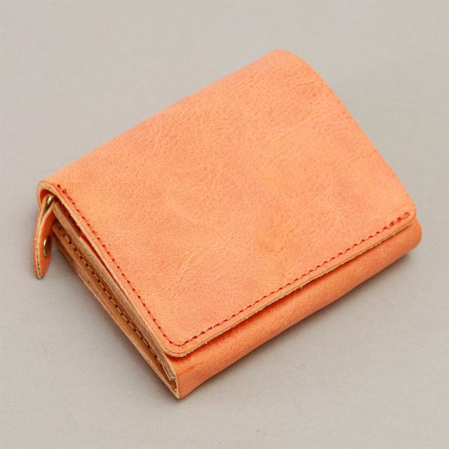 二つ折り財布 フラップ 縦 L字ファスナー コンパクト 小さい 本革 レザー