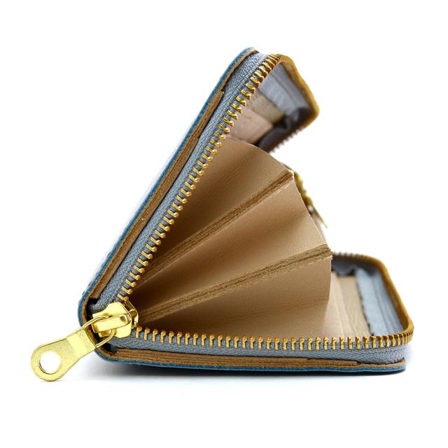 財布 長財布 ロングウォレット 革財布 ラウンドファスナー 本革 牛革 レザー 日本製