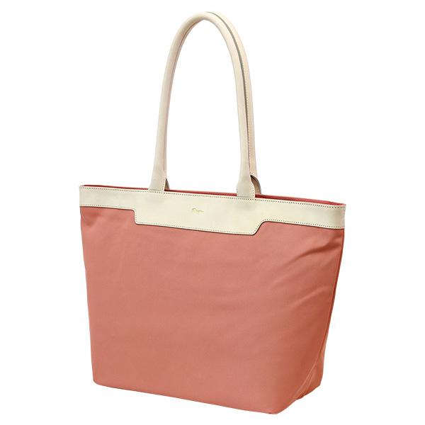 ナイロンバッグ トートバッグ シンプル A4 レディース ボックス型 軽量 ピンク