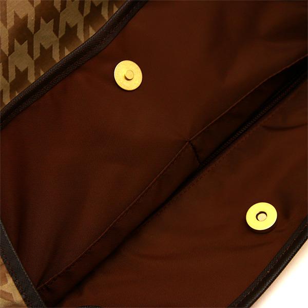 トートバッグ バルーン型 ナイロン レディース 千鳥格子 千鳥柄 日本製
