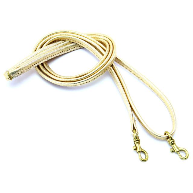 ショルダーベルト ショルダーストラップ 交換用 本革 箔 金 銀 ゴールド シルバー