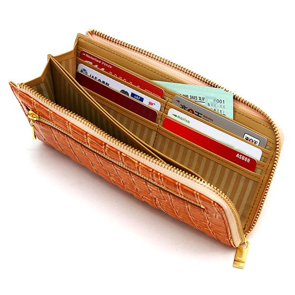 長財布 ウォレット レザー 日本製 L字ファスナー レディース