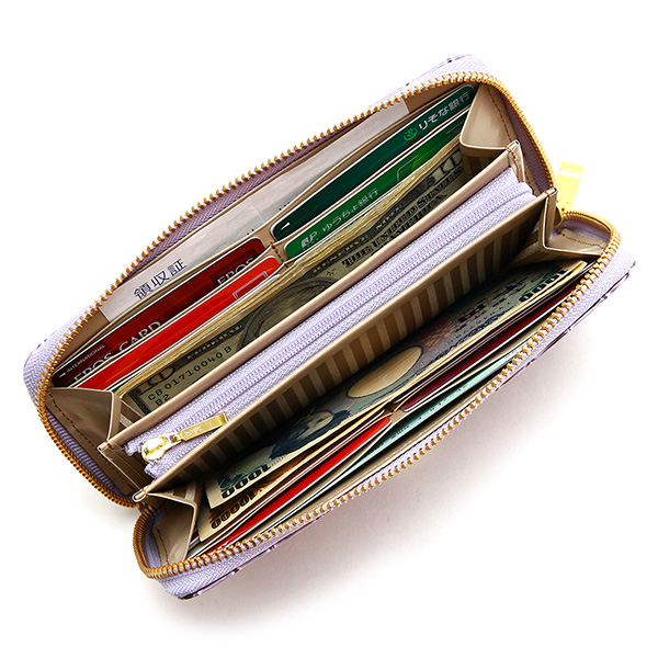 長財布 ウォレット レザー 日本製 ラウンドファスナー レディース