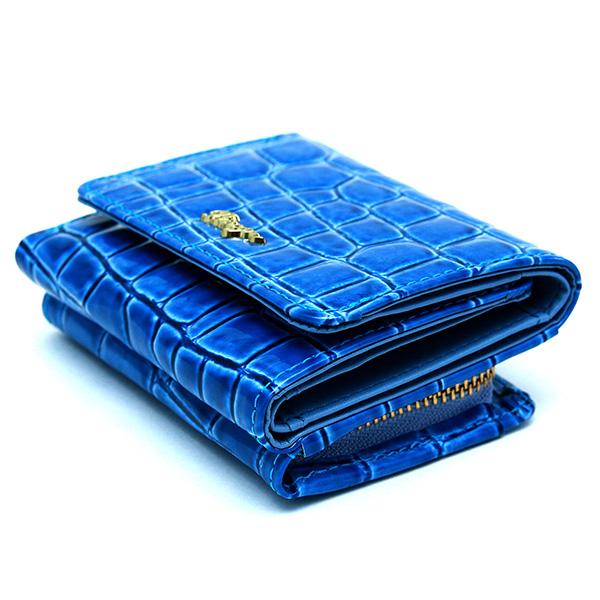 三つ折り財布 レディース コンパクトウォレット 極小財布 ミニ財布 革 エナメル