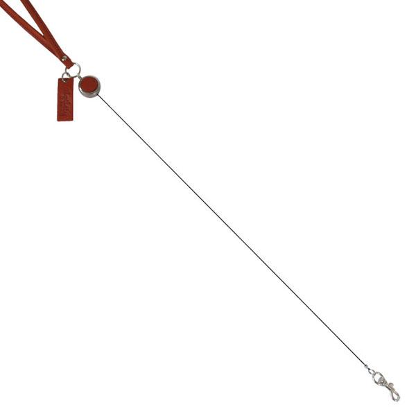 日本製 本革 リール ネックストラップ IDホルダー用 男女兼用