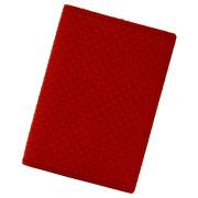 カードケース 本革 メッシュ 薄型 コンパクト 二つ折り メンズ レディース 20枚 レッド