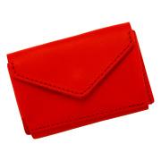 ミニ財布 小さい財布 ミニウォレット コンパクト ミニマリスト ミニマル レッド