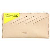 カードフォルダー 10枚 インナーカードケース 長財布 薄型 横型 スリム レザー ベージュ